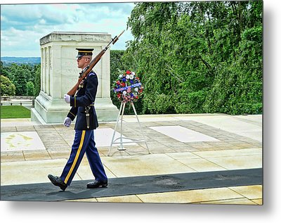 Tomb Of The Unknown Soldier # 3 Metal Print by Allen Beatty