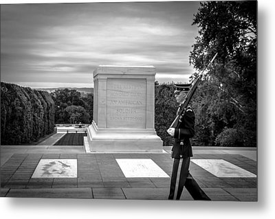 Metal Print featuring the photograph Tomb Of The Unknown Solider by David Morefield