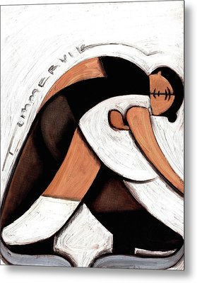 Tommervik Abstract Pair Skaters Figure Skating Art Print Metal Print by Tommervik