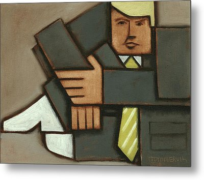 Tommervik Absttract Cubism Donald Trump Art Print Metal Print by Tommervik