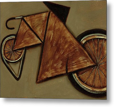 Metal Print featuring the painting Tommervik Art Bicycle Bike Art Print by Tommervik
