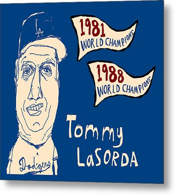 Tommy Lasorda Los Angeles Dodgers Metal Print by Jay Perkins