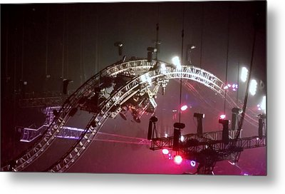 Tommy Lee Motley Crue Farewell Tour Brooklyn N Y 2015 Or Flying Drums Metal Print by Rob Hans