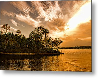 Tomoka River At Sunset Metal Print