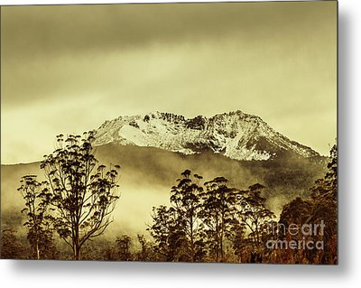 Toned View Of A Snowy Mount Gell, Tasmania Metal Print by Jorgo Photography - Wall Art Gallery