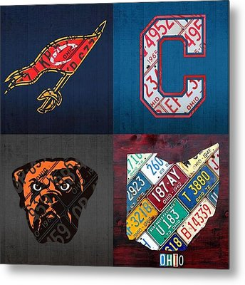 Tons More Sports City Designs Just Metal Print by Design Turnpike