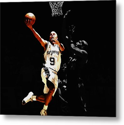 Tony Parker Left Hand Metal Print by Brian Reaves