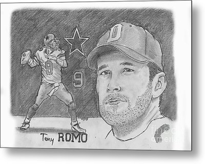 Tony Romo Metal Print by Chris  DelVecchio