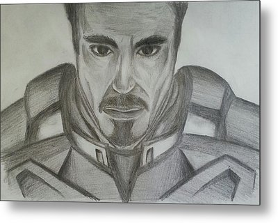 Tony Stark Metal Print by Andrew Chan