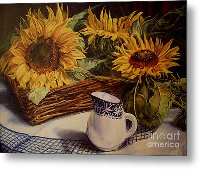 Tony's Sunflowers Metal Print