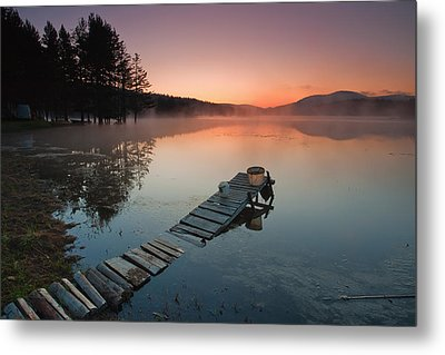 Too Early For Fishing Metal Print