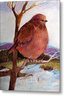 Metal Print featuring the painting Too Fat To Fly by Diane Ursin