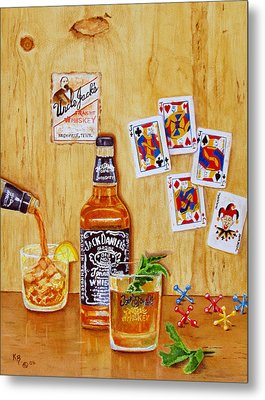 Too Many Jacks Metal Print by Karen Fleschler