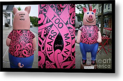 Too Many Tears Breast Cancer Metal Print
