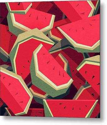 Too Many Watermelons Metal Print