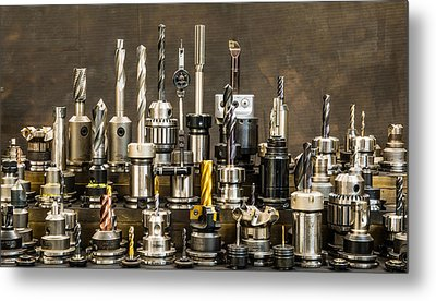 Toolmakers Cutting Tools Metal Print