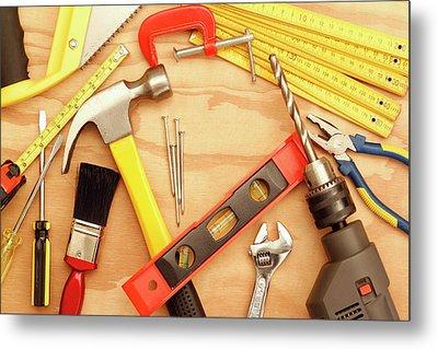 Tools Arrangement Metal Print by Les Cunliffe