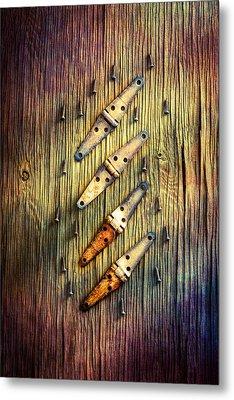 Tools On Wood 48 Metal Print