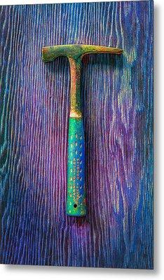 Tools On Wood 63 Metal Print by YoPedro
