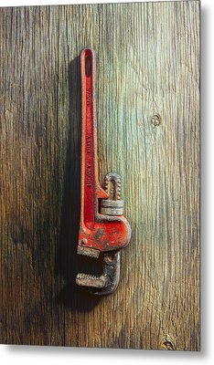 Tools On Wood 70 Metal Print by YoPedro