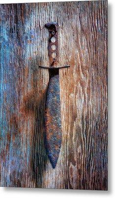 Tools On Wood 75 Metal Print