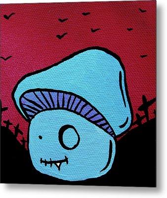 Toothed Zombie Mushroom Metal Print by Jera Sky