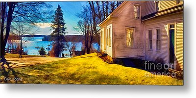 Top Of The Hill, Friendship, Maine Metal Print by Dave Higgins