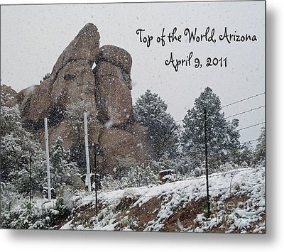 Top Of The World Arizona Metal Print by Methune Hively