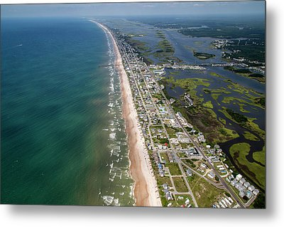 Topsail Island Middle Heart Metal Print by Betsy Knapp