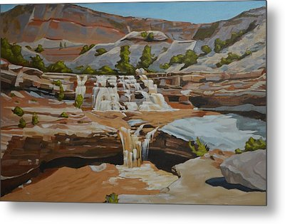 Toquerville Falls Metal Print by Nick Froyd