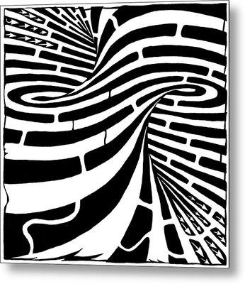 Tornado Maze Metal Print by Yonatan Frimer Maze Artist