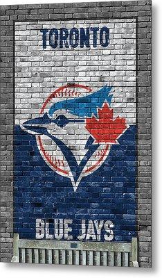 Toronto Blue Jays Brick Wall Metal Print by Joe Hamilton