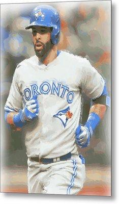 Toronto Blue Jays Jose Bautista Metal Print by Joe Hamilton
