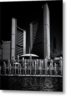 Metal Print featuring the photograph Toronto City Hall No 25 by Brian Carson