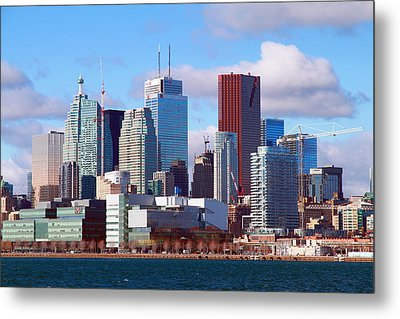 Metal Print featuring the photograph Toronto Core by Valentino Visentini