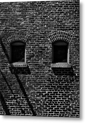 Metal Print featuring the photograph Toronto Distillery District Windows No 1 by Brian Carson