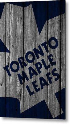 Toronto Maple Leafs Wood Fence Metal Print