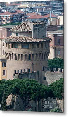 Torre San Giovanni St Johns Tower On The Ramparts Of The Walls Of The Vatican City Rome Metal Print by Andy Smy