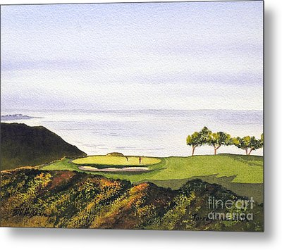 Metal Print featuring the painting Torrey Pines South Golf Course by Bill Holkham