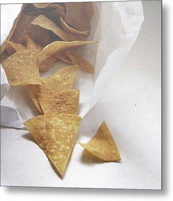 Tortilla Chips- Photo By Linda Woods Metal Print