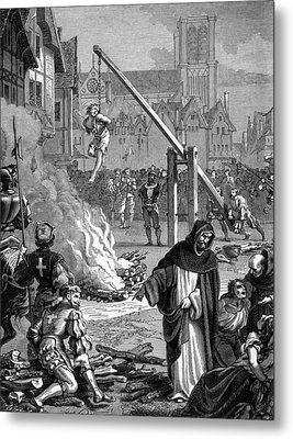 Torture Of Huguenots In France Metal Print by Everett