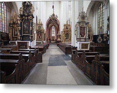 Torun Cathedral Interior In Poland, Metal Print