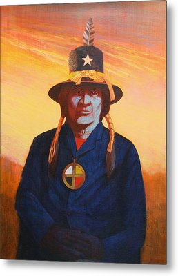 Tosh-a-wah,peneteka Comanche Chief Metal Print by J W Kelly