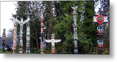 Totem Poles Metal Print by Will Borden