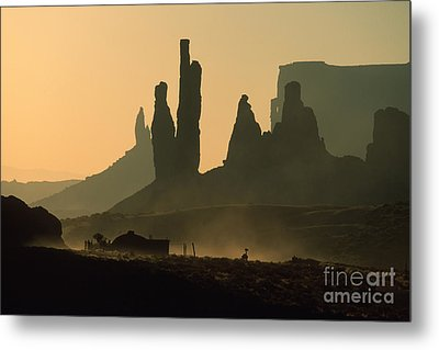Totems At Sunrise Metal Print by Stan and Anne Foster