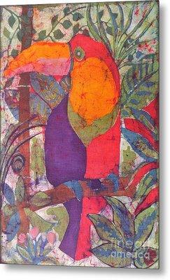 Toucan Batik Metal Print