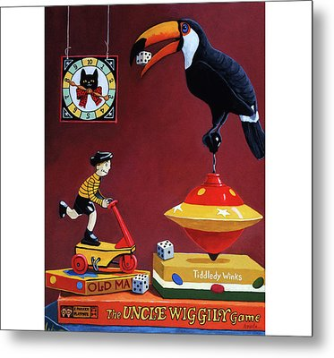 Toucan Play At This Game Metal Print by Linda Apple
