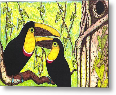 Toucans In Central Park Metal Print