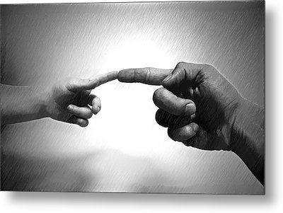 Touch - Id 16236-104946-1859 Metal Print by S Lurk