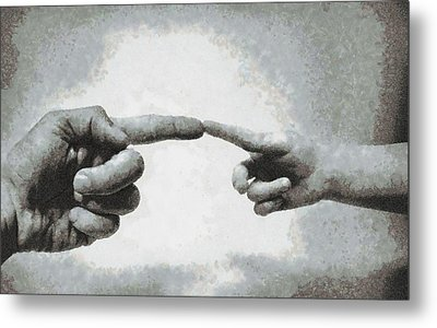 Touch - Id 16236-104954-8272 Metal Print by S Lurk